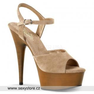 Krásné luxusní sexy boty na podpatku DELIGHT-609FW/TPS/LBN