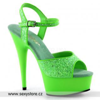 DELIGHT-609UVG/NGN/M sexy zelené svítící boty