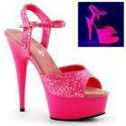 Luxusní sexy obuv DELIGHT-609UVG/NHPNK/M růžové barvy