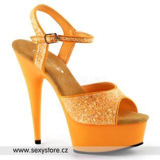 Luxusní sexy oranžová obuv DELIGHT-609UVG/NOR/M