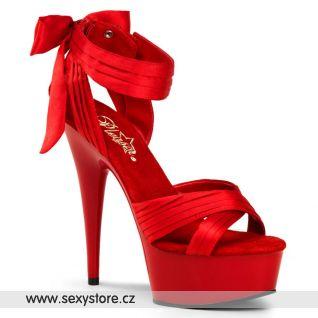 červené luxusní boty Pleaser DELIGHT-668/RSA/M