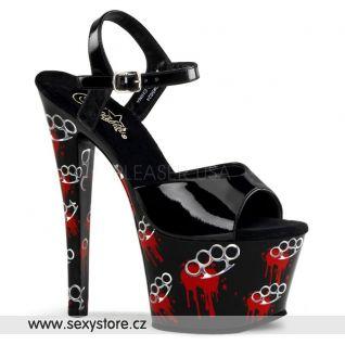 sexy boty se krvavými boxery MOTIF-709BK/B/M