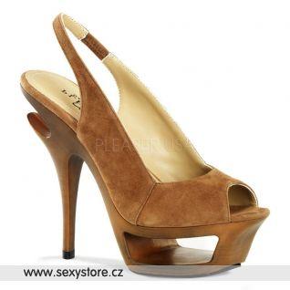 Luxusní boty na podpatku DELUXE-653/BNS