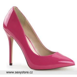 Tmavě růžové dámské lodičky na vysokém podpatku AMUSE-20/HP