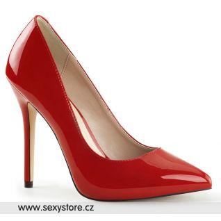 Sexy červené lodičky na jehlovém podpatku AMUSE-20/R