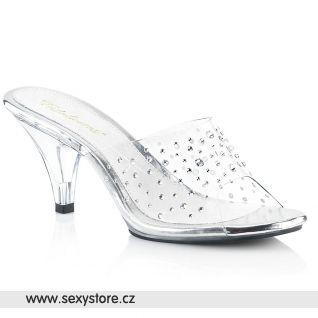 Pantofle BELLE-301RS/C/M na podpatku