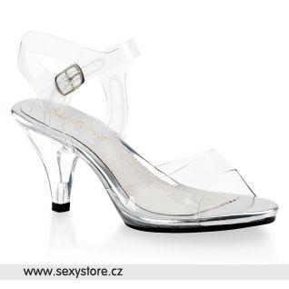 Pruhledné sandály BELLE-308/C/M s páskem