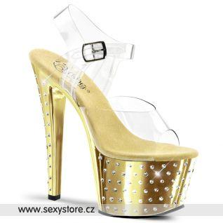 STARDUST-708/C/GCH Zlaté sexy boty