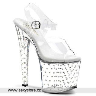 Sexy průhledné boty Pleaser STARDUST-758/C/M