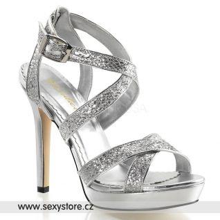 Luxusní společenské boty na podpatku a platformě LUMINA-21/SG