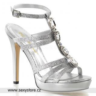Luxusní společenské boty na podpatku a platformě LUMINA-22/SG skladem