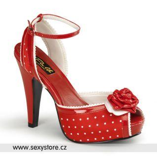 Retro sandálky na podpatku a platformě BETTIE-06/R/SA