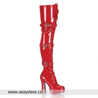 Sexy červené kozačky ELECTRA-3028 ELE3028/R