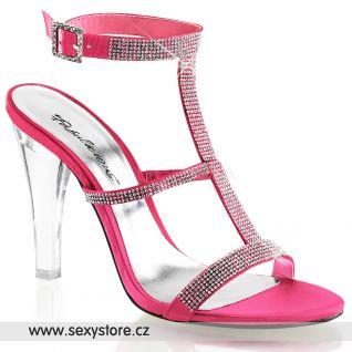 Luxusní sandály CLEARLY-418/CRLSA průhledné/světle růžové