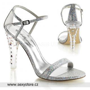 CLEARLY-425/SMCG Luxusní sandále na podpatku