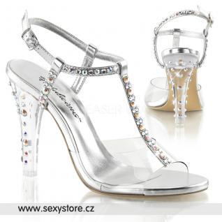 CLEARLY-426/C-SPU Luxusní sandálky