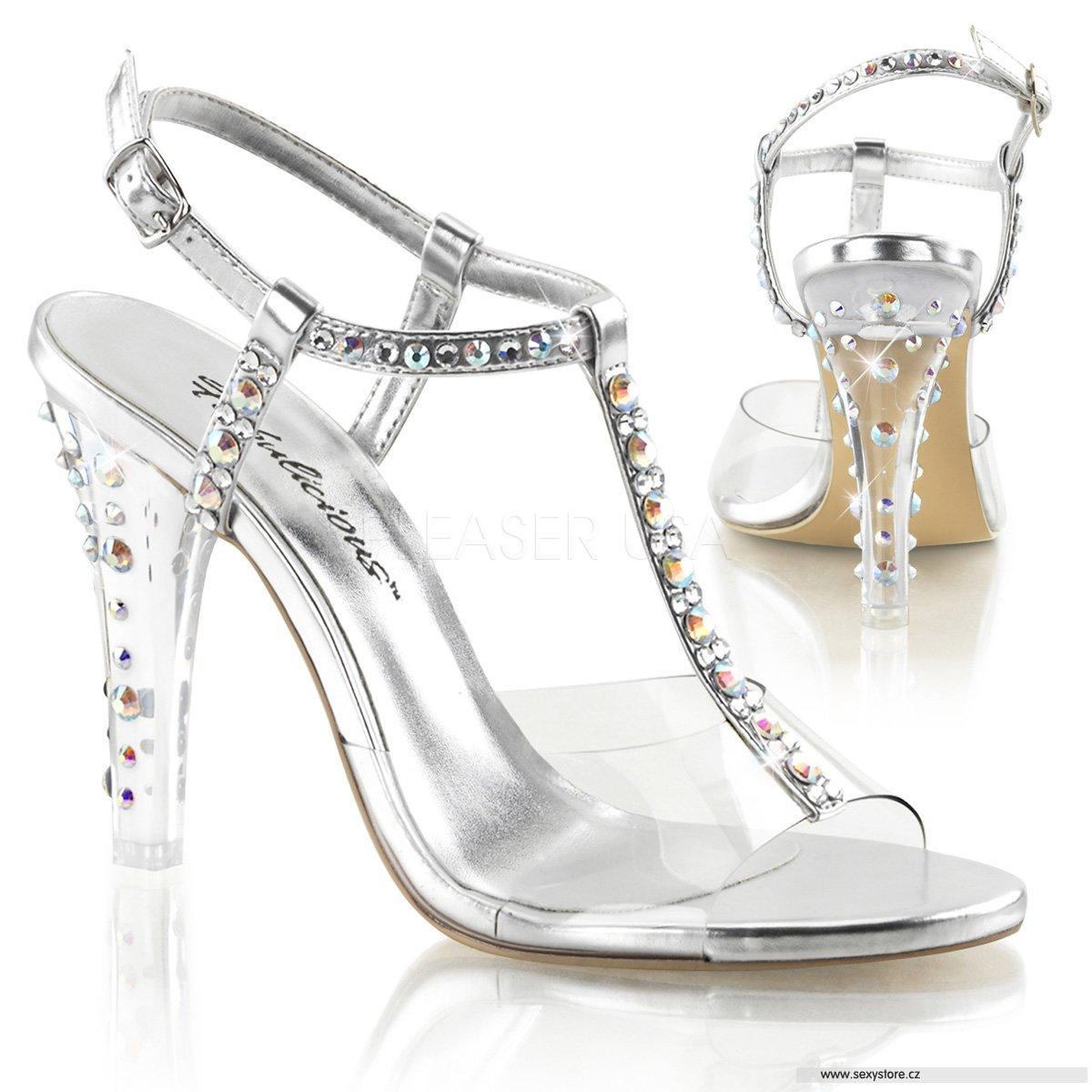 CLEARLY-426 C-SPU Luxusní sandálky  884eb4ea3e