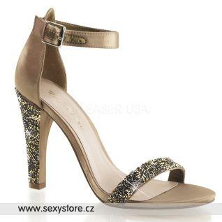 CLEARLY-436/BZSA Luxusní saténové sandály