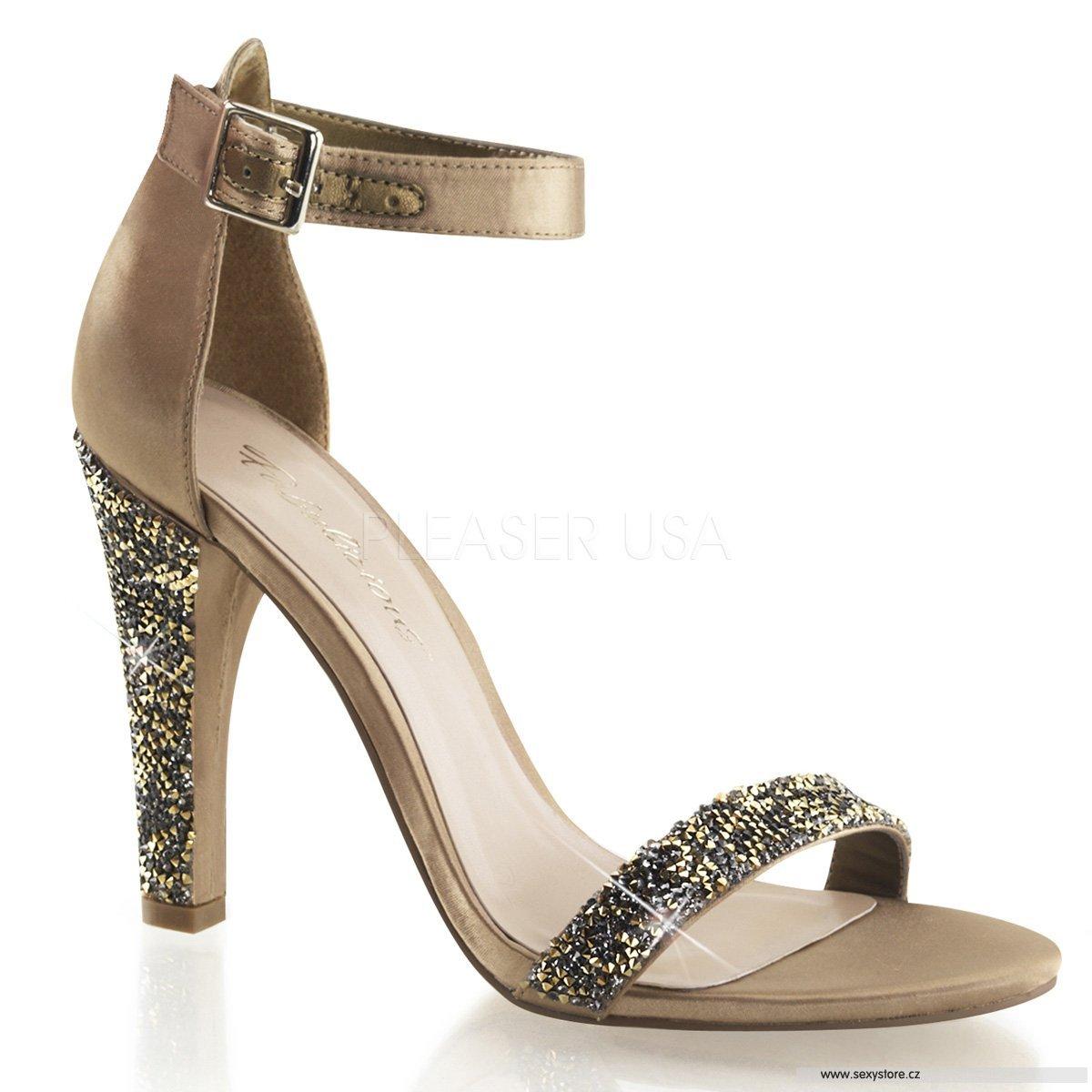 CLEARLY-436 BZSA Luxusní saténové sandály  e2592fd891