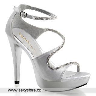 Luxusní páskové obuv na podpatku COCKTAIL-526/SSA