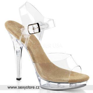 LIP-108/C-T/C sexy sandály na podpatku a platformě