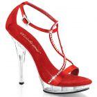 LIP-156/RSA/C Červené společenské sandály Pleaser