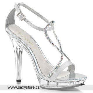 LIP-156/SSA/C Stříbrné společenské sandály Pleaser