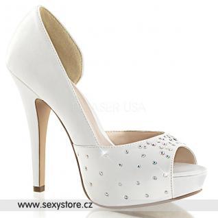 Svatební bílé luxusní lodičky LOLITA-09/IVSA
