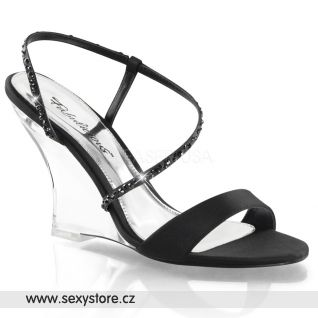 Sandálky na klínku LOVELY-417/BSA/C