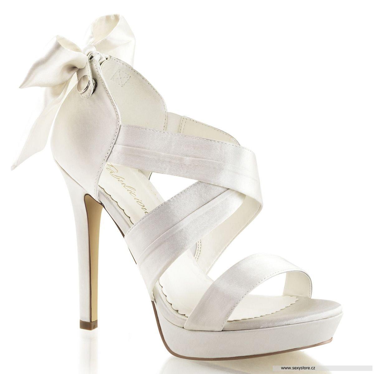 Bílé svatební sandálky na podpatku a platformě LUMINA-29 IVSA ... 7b14517e6d