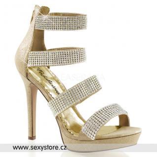 Zlaté luxusní společenské boty LUMINA-30/GF