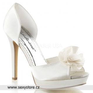 Bílé svatební boty na podpatku LUMINA-34/IVSA skladem