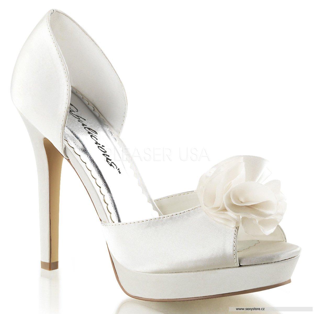 e6387b28796 Bílé svatební boty na podpatku LUMINA-34 IVSA