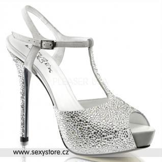 PRESTIGE-10/WS Bílé sandály na jehle