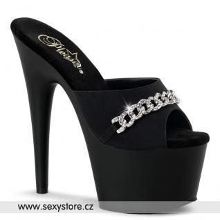 ADORE-701PS-2/BPS/M sexy černé pantofle na podpatku a platformě