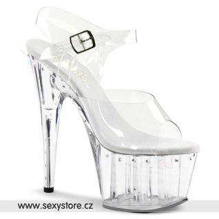 ADORE-708LS/C/M Průhledné sexy boty na podpatku a platformě