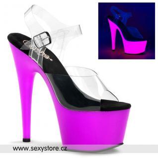 ADORE-708UV/C/NPP Sexy svítící boty na podpatku a platfromě