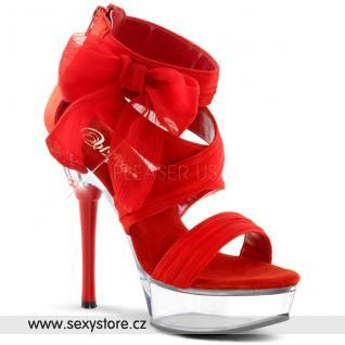 Sexy červené páskové boty ALLURE-664/RCF/C