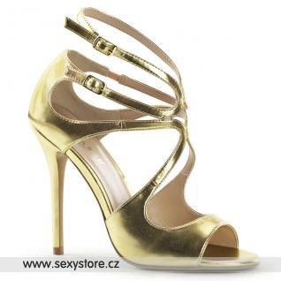 Zlaté páskové boty AMUSE-15/GMPU skladem