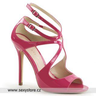 Růžové páskové boty AMUSE-15/HP