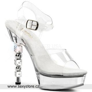 Sexy striptýzové sexy boty na podpatku a platformě DICE-608/C/M