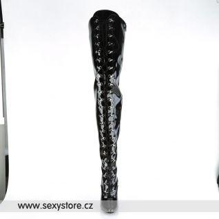 Černé vysoké kozačky SEDUCE-4026/B