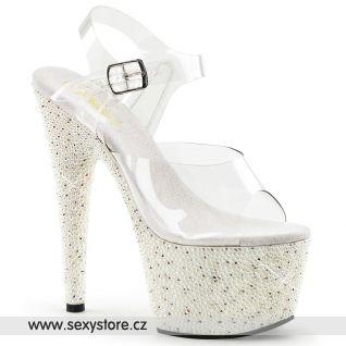Luxusní sexy obuv na vysokém podpatku a platformě PEARLIZE-708/C/W