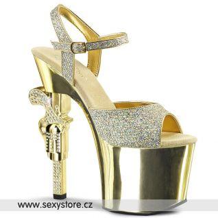 Sexy zlaté strip boty REVOLVER-709G/GG/M