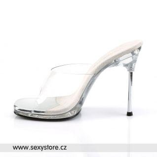 Oblíbené pantofle na jehlovém podpatku CHIC-01
