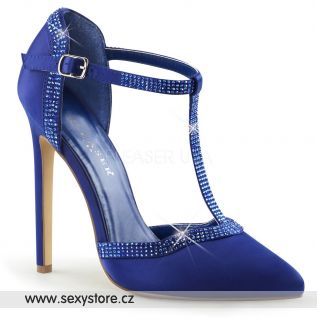 Luxusní modré lodičky na vysokém podpatku SEXY-25/BLUSA
