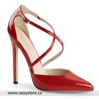 Červené sexy lodičky na vysokém podpatku  SEXY-26/R