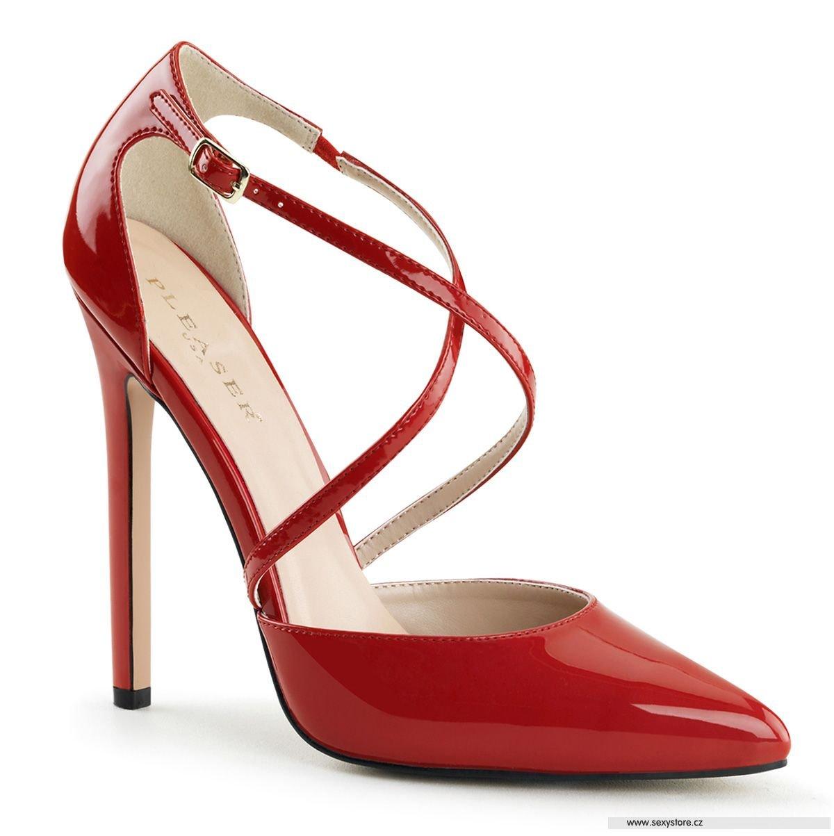 Červené sexy lodičky na vysokém podpatku SEXY-26 R  20cea49775