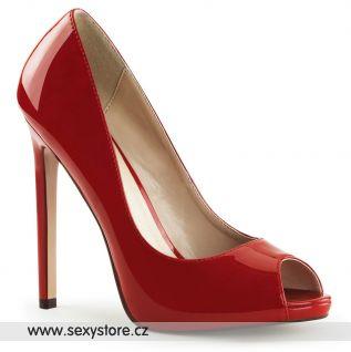 Červené sexy lodičky na vysokém podpatku SEXY-42/R