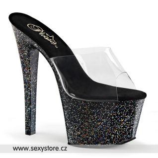 SKY-301MG/C/B Luxusní pantofle na vysokém podpatku a platformě